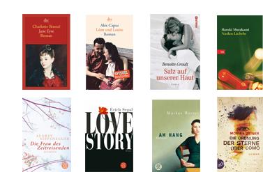 Acht liebste Liebesromane